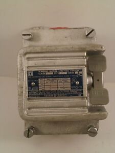 Square D Manual Motor Starting Switch 2510 Kr2h W explosion Proof Enclosure