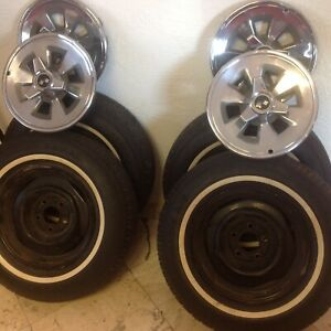 1965 Corvette Rims With Tires Hubcaps Set Of 4