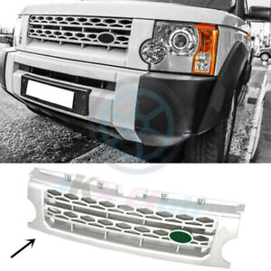 For Land Rover Discovery Lr3 2005 2009 Silver Front Grille Replace Cover Trim