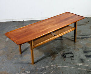 Mid Century Danish Modern Coffee Table Hans Wegner Adreas Tuck At 10 Solid Teak