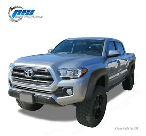 Sand Blast Textured Extension Style Fender Flares Fits Toyota Tacoma 2016 2019