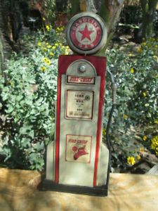 Fire Chief Gasoline Pump Display Vintage Look Station Pump Oil Gas Man Cave