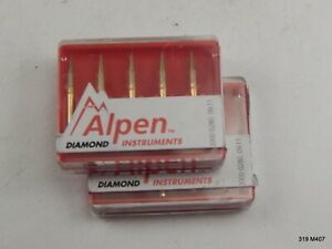 Ten 10 Alpen R865ef016fg Flame 862 016 Extra Fine Fg Carbide Dental Bur