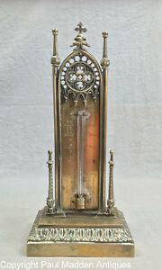 Antique Gothic Thermometer By Cary London