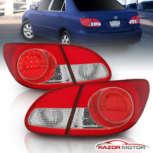 led Style for 2003 2004 2005 2006 2007 2008 Toyota Corolla Tail Lights