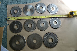 Hss Side Milling Cutter Tool Blades Lot Of 11 F d P w Poland Globus Moon