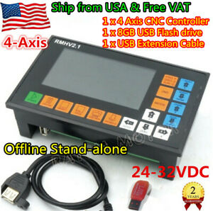 usa Ship 4 Axis Stand alone Offline Cnc Motion Controller G code For Cnc Router