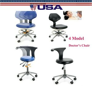 Usps 360 Rotation Dental Mobile Chair Adjustable Stool Dentist Chair Pu Leather
