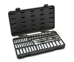 Gearwrench 76pc Sae metric Master 12 point Socket Ratchet Set 1 4