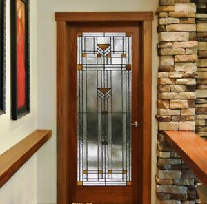 Beautiful Stained Glass Praire Misson Designer Interior Door