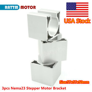us 3pcs 57mm Nema23 Stepper Motor Mount Aluminum Bracket Support For Cnc Router