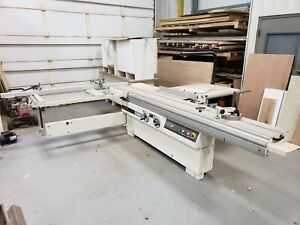 large Sliding Table Saw With Scoring Blade And Guard Super Accurate