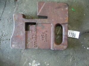 Rowe Foundry 75 Lb Suitcase Weight Tag 2700