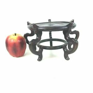 Vintage Chinese Carved Wooden Stand For Bowl Vase 121