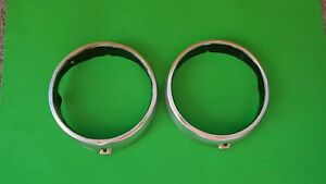 1966 Plymouth Valiant Headlight Bezels