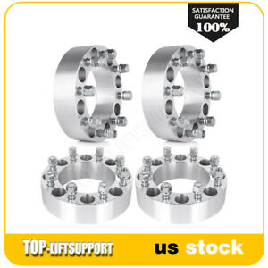 4 Wheel Spacers Adapters 8x6 5 9 16 For Dodge Ram Ford F 250 F 350 2 Inch