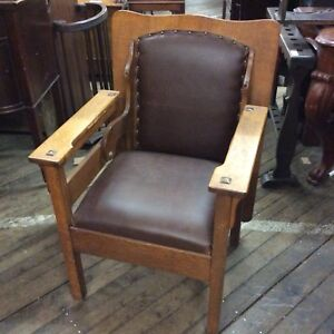 Oak Mission Chair Table 35 X27