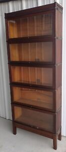 Stunning Globe Wernicke Original Barrister 5 Section Bookcase Rare Tiger Oak