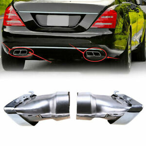 Exhaust Tip Tail Pipe Stainless Steel For Mercedes Benz S Class M Class 05 13