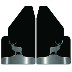 Universal Mud Flaps 14 Wide Rear With Elk Stand Anchor Weights For Full Size Tr