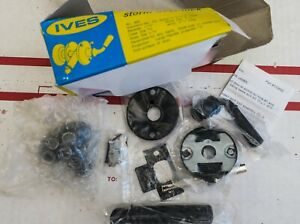 Nos Vintage Ives Storm Door Lock Set 980 Black Finish