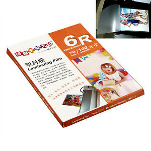 100 Sheet 160x220mm 6r Laminating Pouch Film Glossy Protect Photo Paper