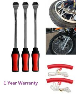 New 3 Tire Iron Lever Tool Changing Spoon 2 Wheel Rim Protectors Motorcycle Us