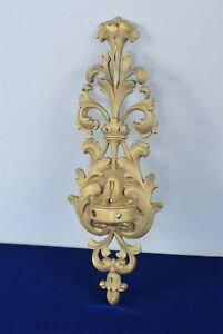 Antique Bronze Decorative Rococo Style Wall Candelabra Candle Sconce 14