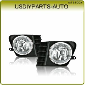 For 12 14 Toyota Prius V Fog Light Clear Lens W Relay Wiring Harness Kit Pair