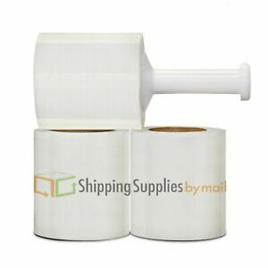 Clear Pallet Wrap Stretch Shrink Film 5 X 1000 90ga 432 Rolls Plastic Handle