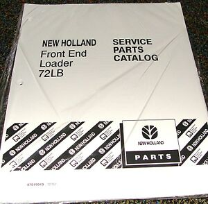 Ford New Holland Tractor Parts Catalog Front End Loader Model 72lb