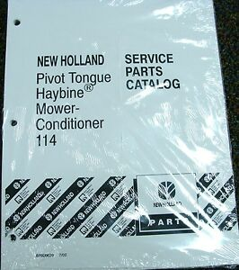 Ford New Holland Tractor Parts Catalog Haybine Mower Conditioner 114