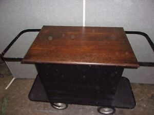 Antique Industrial Cart Island Bar Super Piece Selling Out