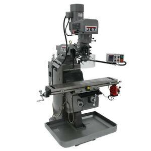 Jet 690602 Jtm 1050evs2 230 Mill With X axis Powerfeed And Air Powered Draw Bar