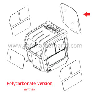 7120401 14pc Skidsteer Front Polycarbonate Window