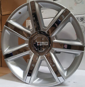 22 Cadillac Escalade Platinum Style Rims Wheels Silver Chrome Insert