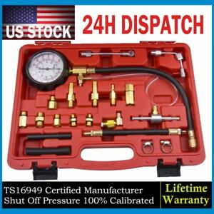 Gas Fuel Injection Pump Injector Tester Test Pressure Gauge Kits Case