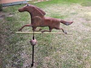 Running Horse Weathervane 28 X 13 Copper