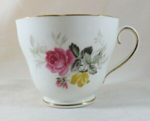 1789 Adderley Tea Cup England Fine Bone China Pink Roses Pattern Gilding H438