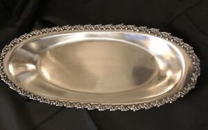 Antique Vintage Westminster Heavy Silver Plate Bread Tray 3851