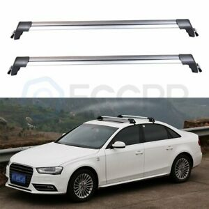 2 Roof Rack For With Lock Bike Kayak Ski Snowboard Cross Bar With Lock Luggage