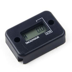 Fit Motorcycle Dirt Bike 4 Stroke Digital Rpm Tach Hour Meter Tachometer Gauge