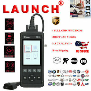 Launch X431 Cr7001s Obd2 Diagnostic Scanner Clear Code Diy Oil Reset Abs Srs Epb