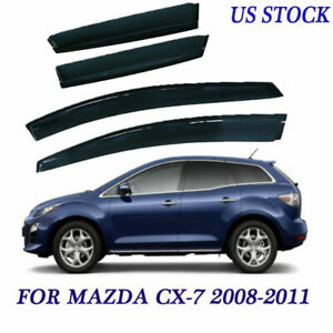 Fit For Mazda Cx 7 08 09 10 4 Piece Window Visor Protector Dark Smoke Tint Style