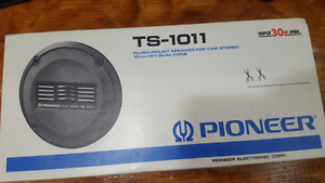 Vintage Pioneer Ts 1011 Flush Mount Speakers For Car Stereo 10cm 4 Dual Cone