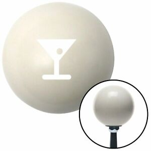 White Martini Glass W Olive Ivory Shift Knob With 16mm X 1 5 Insert G Force