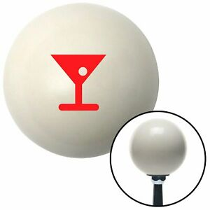Red Martini Glass W Olive Ivory Shift Knob With 16mm X 1 5 Insert Matchless 356