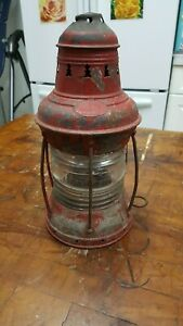 Rare Antique Maritime Perko Ship Lantern Lamp Perkins Ny Marine Lighting