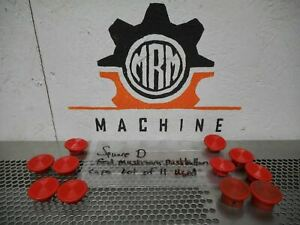 Square D Red Mushroom Pushbutton Caps Used With Warranty lot Of 11