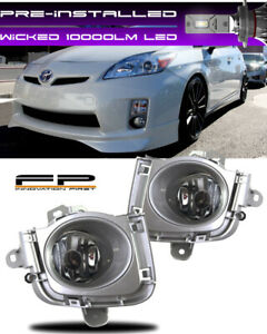 Wicked Led 2010 2011 Toyota Prius Fog Lights Clear Driving Lamps Complete Kit